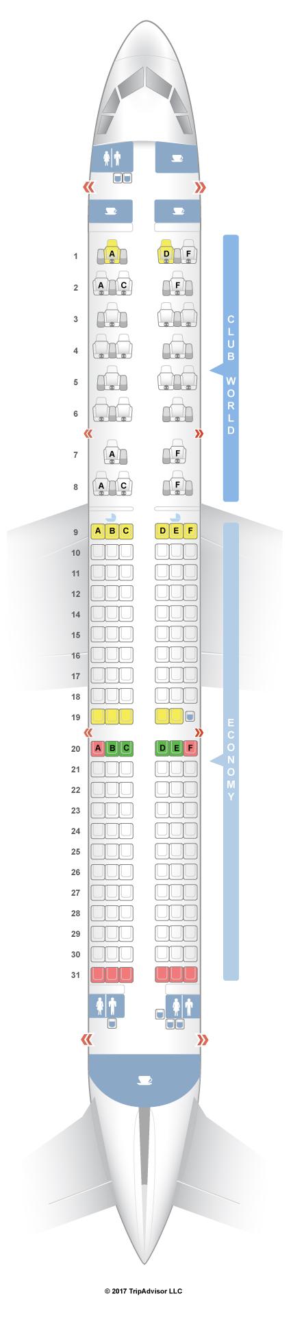 SeatGuru Seat Map British Airways Airbus A Intl - Us airways a321 seat map