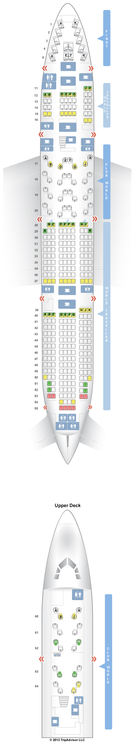 SeatGuru Seat Map British Airways Boeing V - Us airways seat map