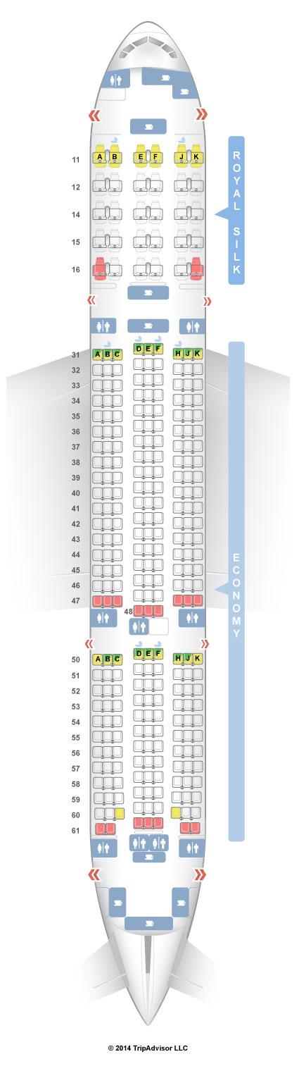 SeatGuru Seat Map THAI Boeing ER - Us airways seating map