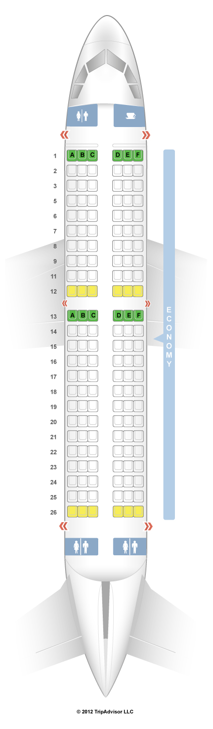SeatGuru Seat Map Tigerair Airbus A - Us airways seat map