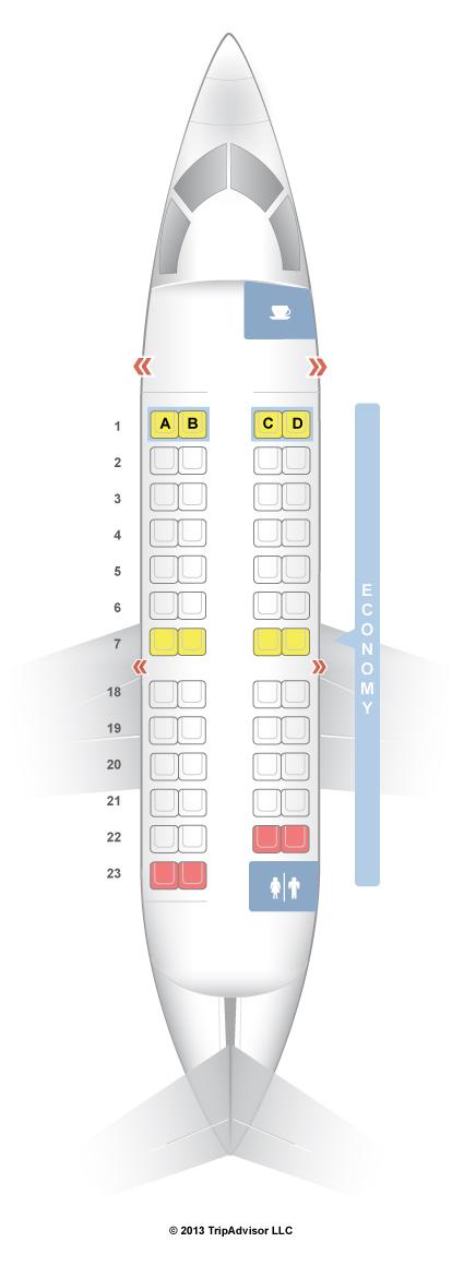 SeatGuru Seat Map United Bombardier CRJ V - Us airway map