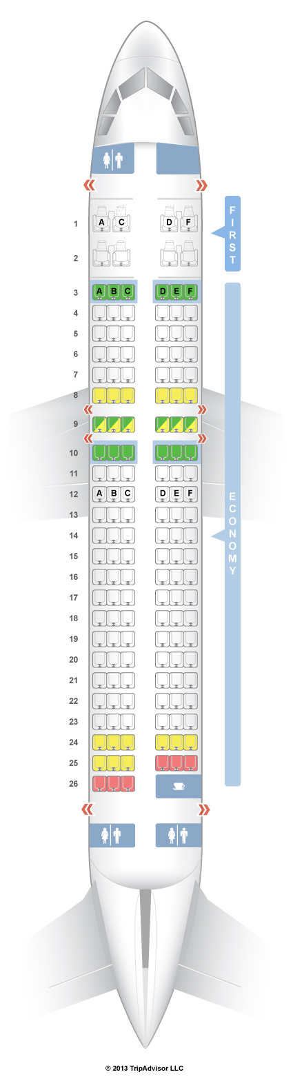 SeatGuru Seat Map Virgin America Airbus A V - Us airways seat map