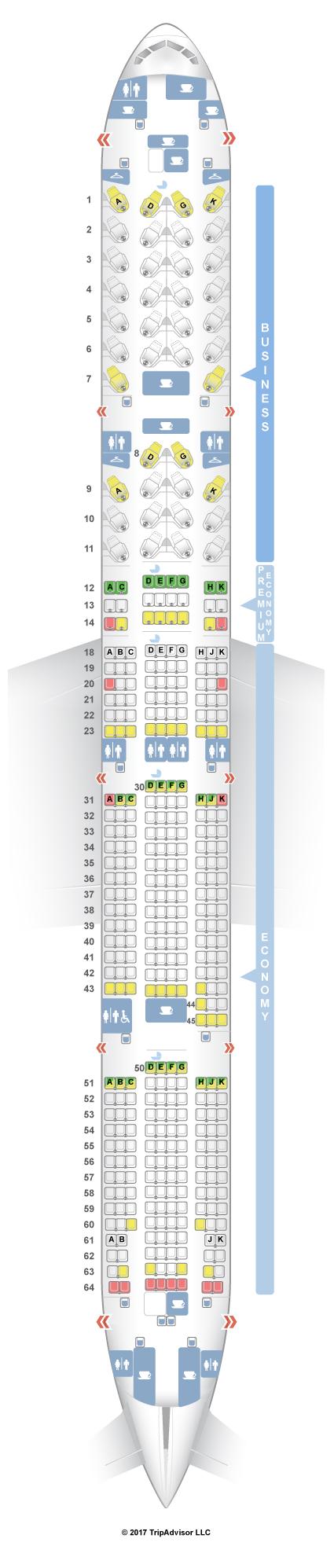 Bulkhead Seat Airplane Delta 767 300 Domestic Comfort Plus
