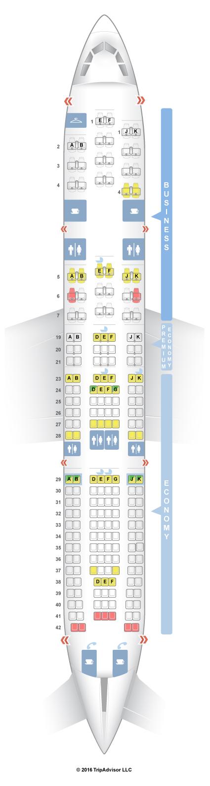 Seatguru seat map air france airbus a330 200 332 for Air algerie reservation vol interieur