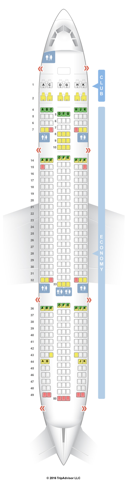 Seatguru Seat Map Air Transat Airbus A330 200 332 New