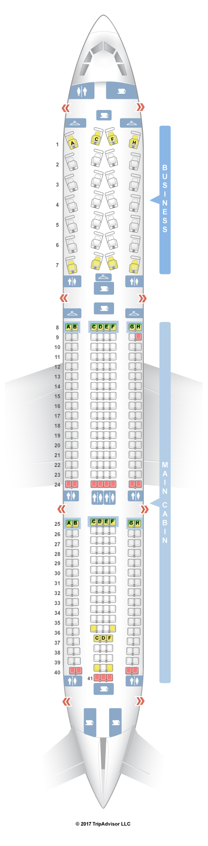 us airways plane seating chart