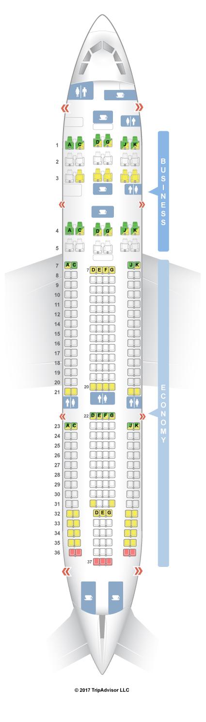 Seatguru Seat Map Avianca Airbus A330 200 332