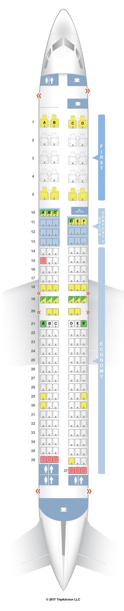 Seatguru Seat Map Delta Boeing 737 900er 739
