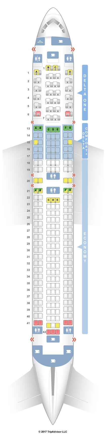 Seatguru Seat Map Delta Boeing 767 300er 76h 76z