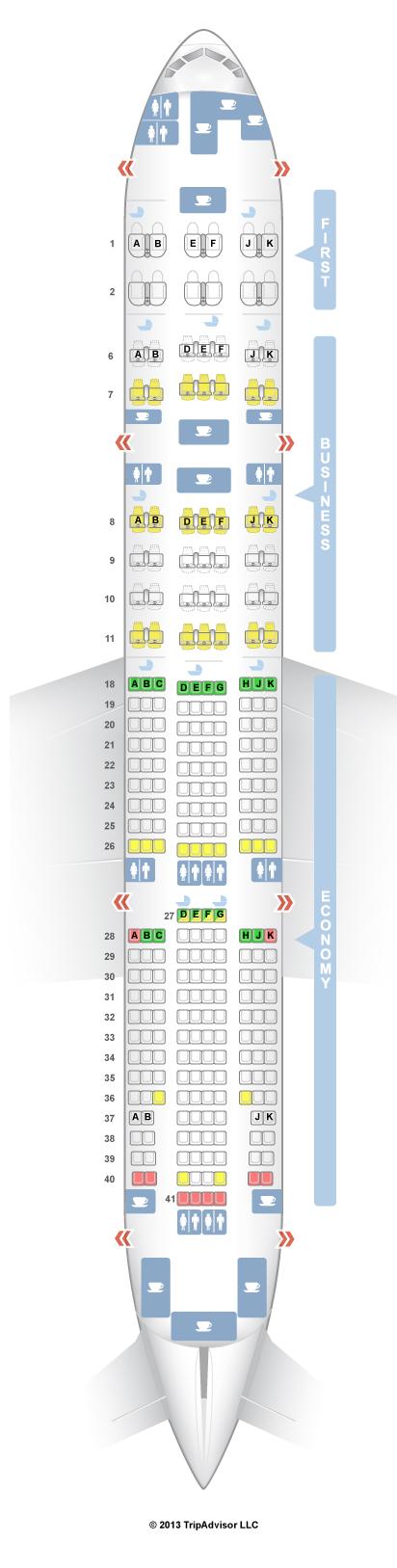 Condor seatguru Boeing 767