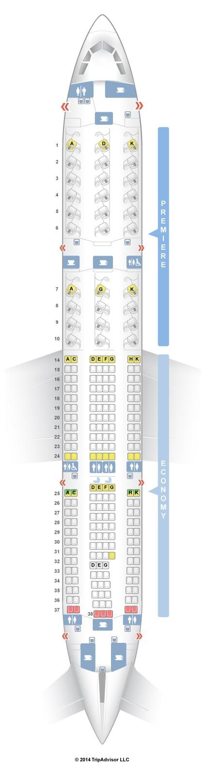 Seatguru Seat Map Jet Airways Airbus A330 200 332 V1