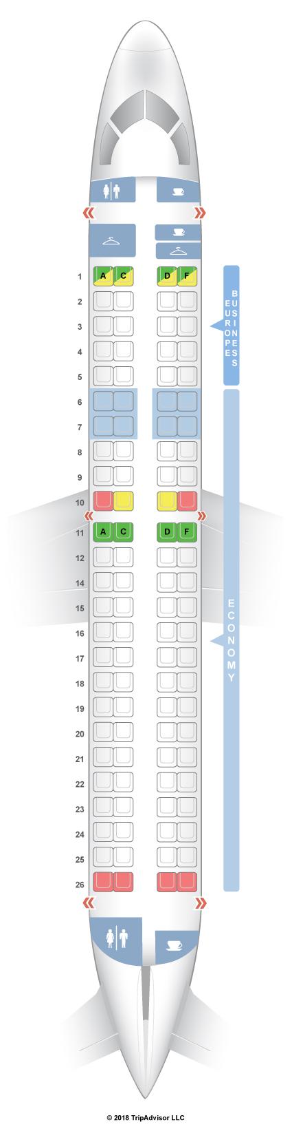 Seatguru Seat Map Klm Embraer E 190