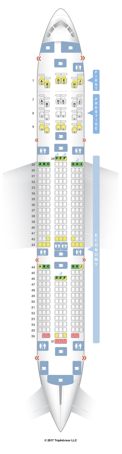 Seatguru Seat Map Korean Air Boeing 787 9 789