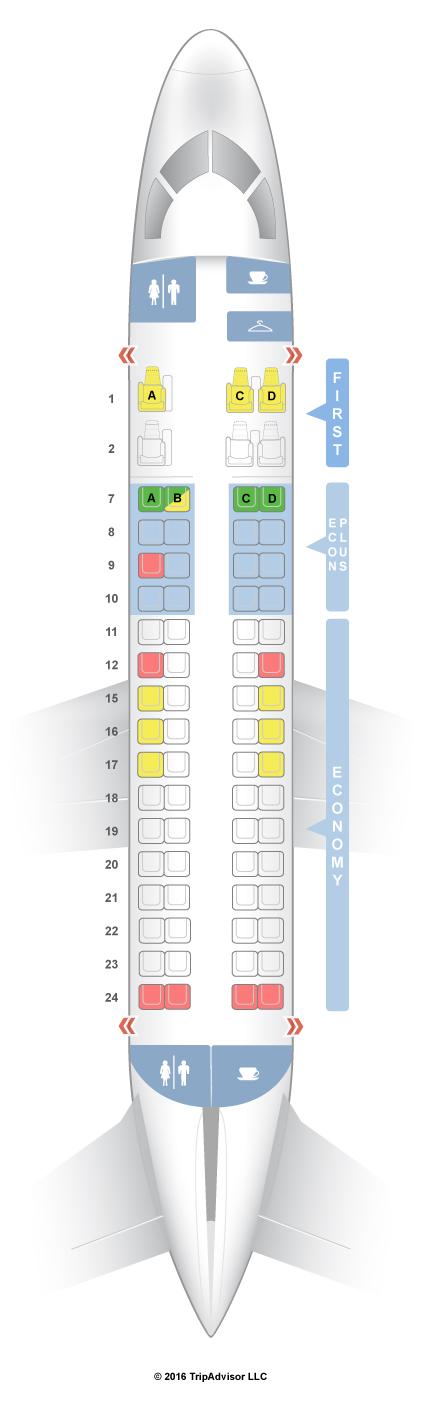 Seatguru Seat Map United Embraer Emb 170