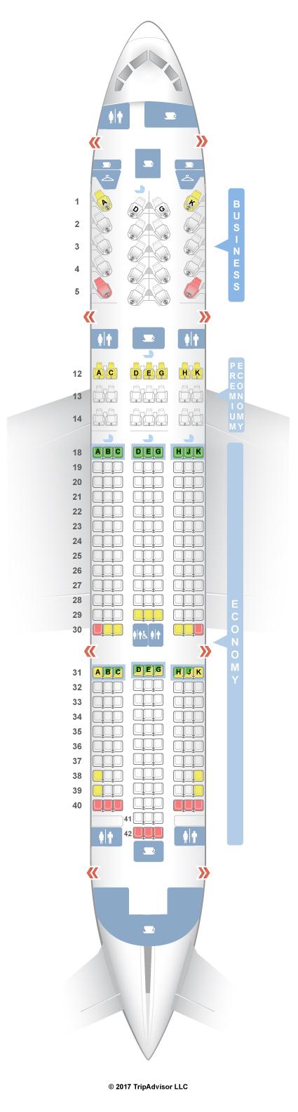 Seatguru Seat Map Air Canada Boeing 787 8 788